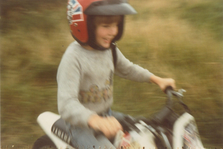 Simon on bike